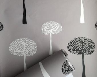 Removable Wallpaper, wallpaper, Peel and stick wallpaper, Tree wallpaper, Forest wallpaper, Reusable wallpaper