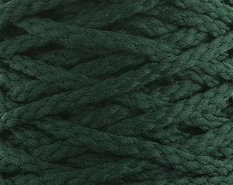 10 Yards Braided Macrame Cord - Forest Green