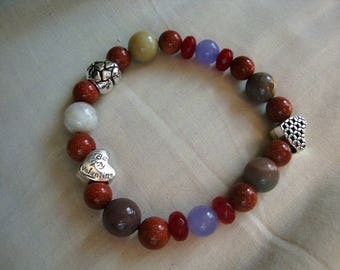 Ethnic bracelet flaming heart