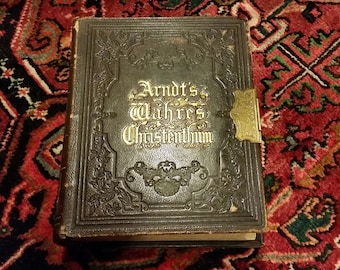 Wahren Christenthum Antique Leather bound book