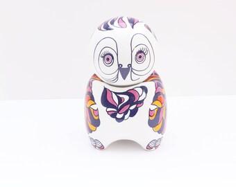 vintage porcelain, figurine, Owl, Guggenbuhler, germany porcelain, bird figurine, collectable figurine, vintage porcelain