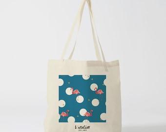 X85Y Tote bag pink Flamingo, bag bird, bag canvas shopping bag, handbag, diaper bag, shopping bag, bag of course, nature