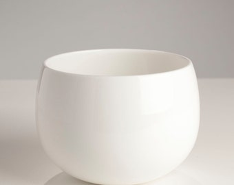 Handmade White Ceramic Hedy Bowl