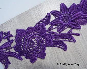 Purple Garter Set, Wedding Garter Set, Lace Wedding Garter, Purple Garter, Lace Garter Set, Bridal Garter, Wedding Garter Purple, Garters