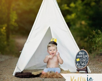 Where The Wild Things Are First Birthday Crown - Wild Things Crown - Wild One Crown - Wild Things First Birthday Photo Props - Max Crown