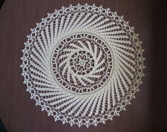 """Yellow """"Winds of Change"""" doily"""