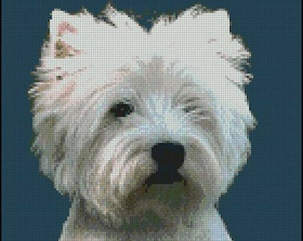"""West Highland Terrier Counted Cross Stitch Kit 10"""" x 9.75"""""""