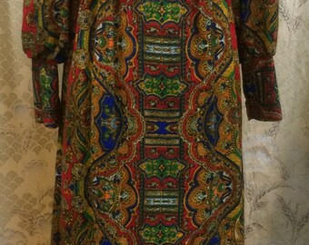 1970's Emma Domb Maxi Dress, Hippie Dress, Boho Dress