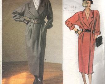 Bust 34-FACTORY FOLDED 1980's Misses' Dress Vogue American Designer 1461 by Anne Klein Size 12