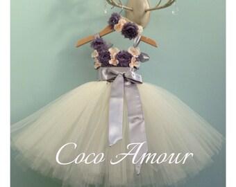 Vintage inspired Tutu Flower Girl Dress, wedding, bridesmaid, tutu dress. Custom made, all ages