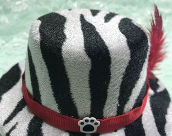 Zebra Hat for Dogs(Medium)