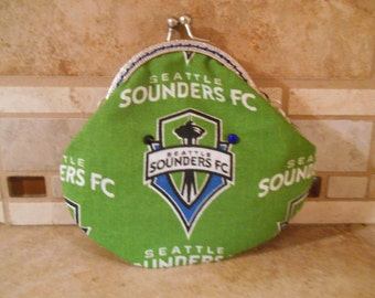 Fabric Coin Purse with Seattle Sounders Print