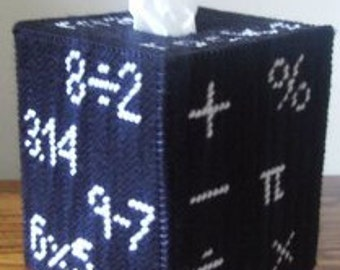 Math Tissue Box Cover Plastic Canvas Pattern