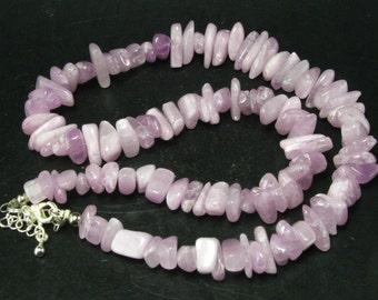 "Kunzite Beads Necklace From Brazil - 18"""