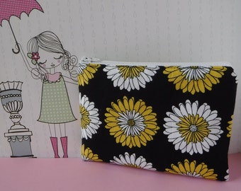 Sunflower Fabric - Tampon Pouch - Sunflower Bag - Tampon Holder - Tampon Case - Toiletry Bag - Women Toiletry Bag - Sanitary Pad Holder