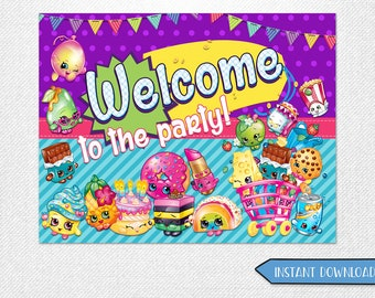 Shopkins welcome poster, Shopkins poster, Shopkins welcome, Shopkins birthday decorations!