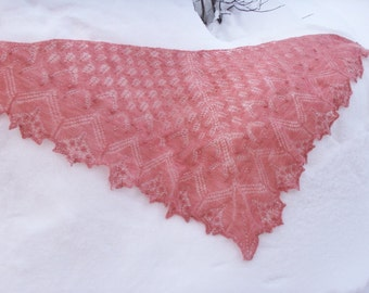 Faerietale Gossimer Estonian Lace Shawl with Beads