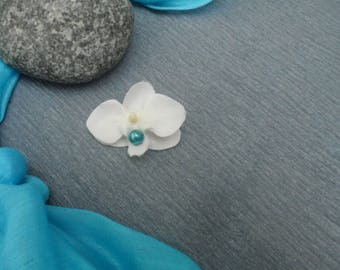 PIN - lapel for kids - white and turquoise