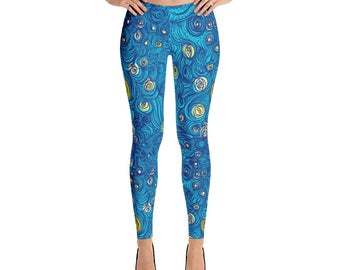 Starry Night Painting Leggings