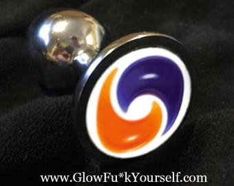 FORBIDDEN FRUIT Butt Plug! stainless steel or silicone ride the tide of the best meme ever mature gag gift kinky gay fidget tail