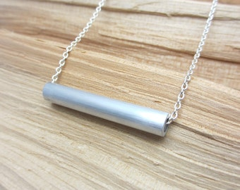 Minimalist Necklace Contemporary Jewelry Aluminum Necklace