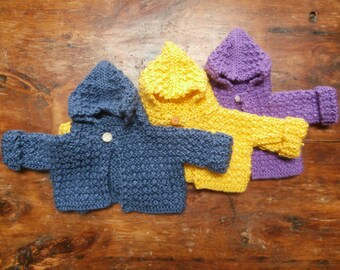 Hooded baby sweaters