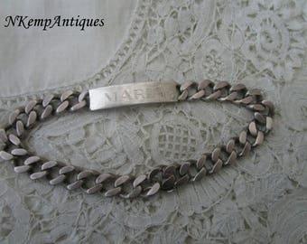 Silver ID bracelet