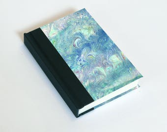 """Sketchbook 4x6"""" with motifs of marbled papers - 27"""