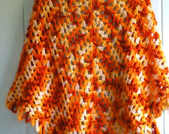 1960's Psychedelic Shawl -S/M-
