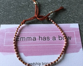 Filigree stretchy bracelet in cranberry with gold and pink