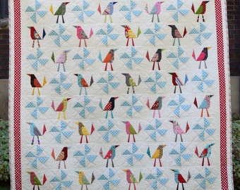 PDF Busy Birds PDF Quilt Pattern for Instant Digital Download