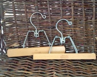 Vintage Wooden Hangers- Setwell- Harmony House- Slacks- Skirt- Artwork Display