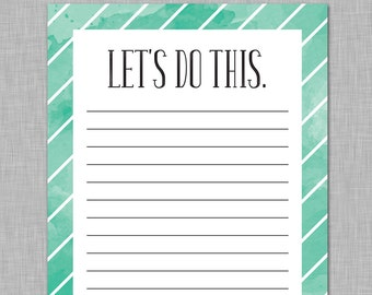 Let's Do This, To-Do List Notepad, Task list,