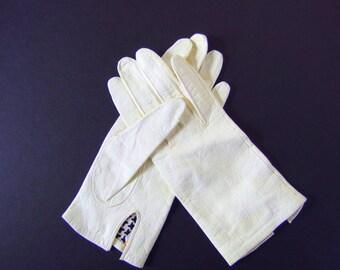 Vintage Halle Bros Silk Lined Kid Leather Gloves