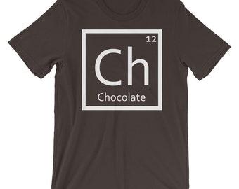 Periodic table chocolate etsy chocolate t shirt periodic table chemicals dessert urtaz Choice Image