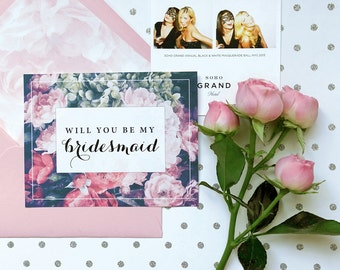 Will you be my bridesmaid card, Bridesmaid proposal, bridesmaid card, Will you be my bridesmaid Will you be my maid of honor bridesmaid gift