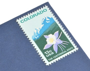 25 Colorado Stamps - 13c - Vintage 1977 - Unused - Quantity of 25