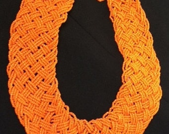 African bead necklace; Micro beads; Bead Necklace; Seed bead necklace; Beadwork Necklace; Seed Bead Jewelry; African Jewelry