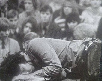 The Doors' Jim Morrison, On Stage, 1968 - Mounted Mini Poster