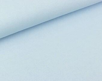 Smooth Bündchenware Uni light blue extra wide (10.50 EUR/meter)