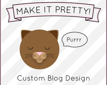 CUSTOM BLOG DESIGN Wordpress Blogger Tumblr layout