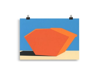 Art Print – Covered Skip Container