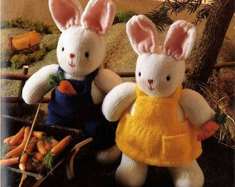 Knitting Easter Bunnies : Knit easter bunny etsy