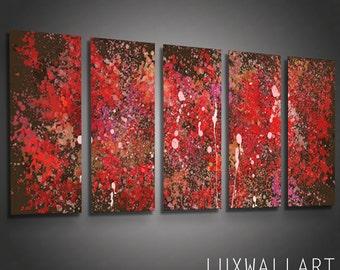 Large Modern Abstract Metal Wall Art Pollock 1