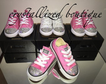 Converse Pre Walker & Toddler Shoes Encrusted with Swarovski Elements