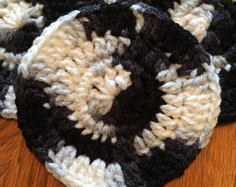 Colorful Crocheted Coasters - Set of 4