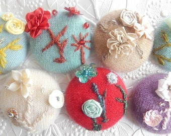Embroidered cashmere beaded floral button,  price per button, 1 7/8 inches, 1.9 inches, 4.7 cm, 48.26 mm, size 75 buttons