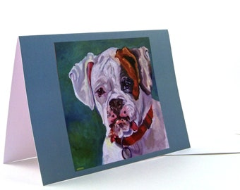 Boxer Dog Portrait Greeting Card