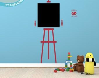Art Easel - Chalkboard - Vinyl Wall Decal