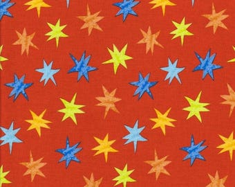 Multi-colored stars on Red Sky